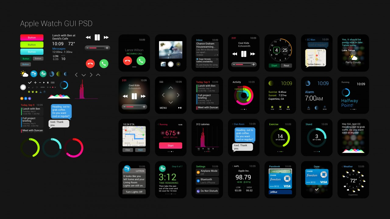Apple Watch,GUI,interface,watches,wallpaper,5k,4k,review,iWatch,Apple,interface,display,silver,Real Futuristic Gadgets,hi-tech
