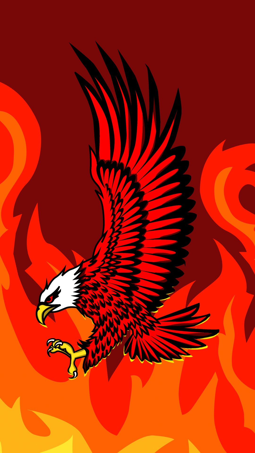 yellow,red,Anger,Eagle,Birds,Art,4K