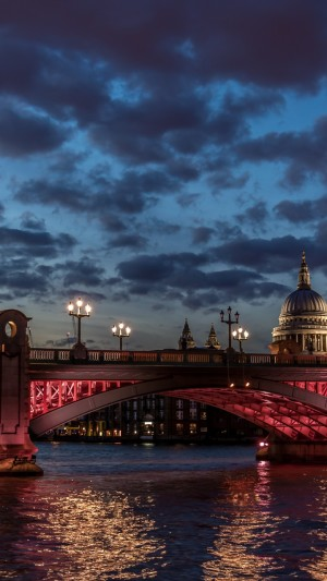 London,river Thames,St Paul,cathedral,water,night,clouds,sky,sunset,twilight,night,light,travel,vacation,architecture