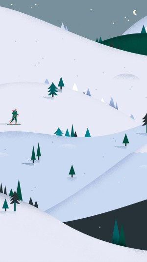 Android,5k,4k,HD wallpaper,winter,snow,mountains,abstract