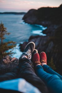 blue,black,red,mountain,nature,white,ice,sky clouds,Love,Shoes,Sea,4K